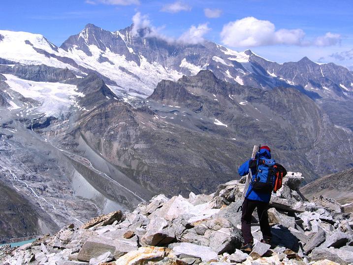 Foto: Andreas Koller / Wander Tour / Stelli - Aussichtsloge über dem Stausee Mattmark (3357 m) / 03.09.2009 23:32:01