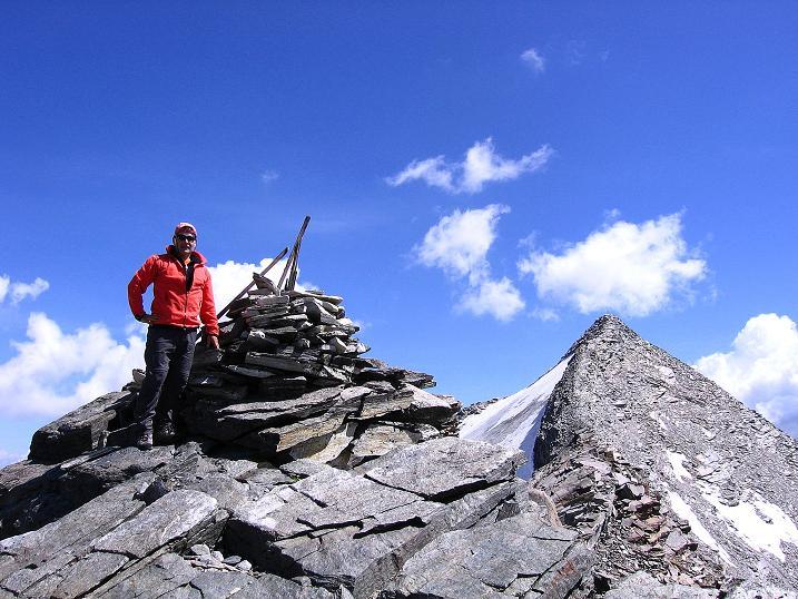 Foto: Andreas Koller / Wander Tour / Stelli - Aussichtsloge über dem Stausee Mattmark (3357 m) / 03.09.2009 23:31:46
