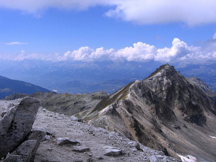 Foto: Andreas Koller / Wander Tour / Bella Tola - Aussichtsbalkon der Walliser Alpen (3026 m) / Blick zum Rothorn / 05.09.2009 18:40:07