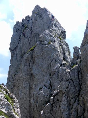 Foto: Wolfgang Lauschensky / Kletter Tour / Klettern am Roßstein und an der Roßsteinnadel / Roßsteinnadel: Anstieg über Westgrat, Abseilen an der Nordwand / 24.05.2011 23:36:45