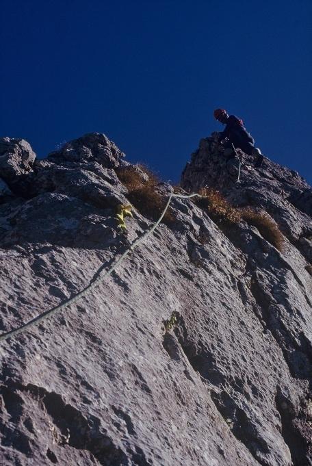 Foto: Manfred Karl / Kletter Tour / Klettern am Roßstein und an der Roßsteinnadel / Roßsteinnadel Westgrat / 14.06.2011 22:44:40