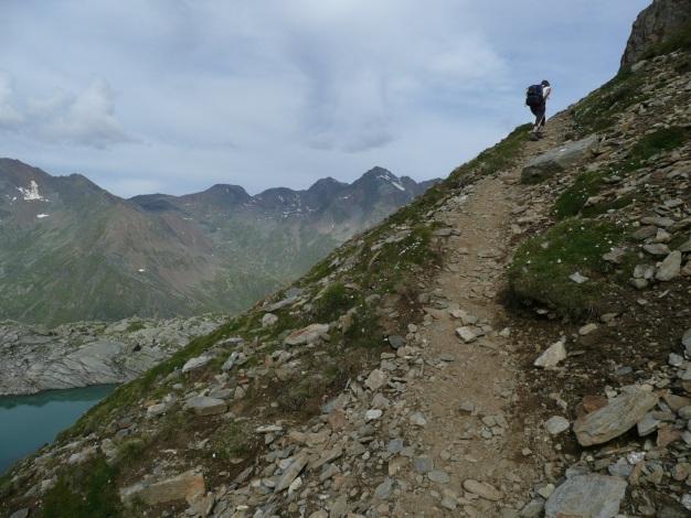 Foto: Manfred Karl / Wander Tour / Klettersteigdreitausender über dem Halsljoch / Unter dem Halsljoch / 31.08.2009 16:15:07