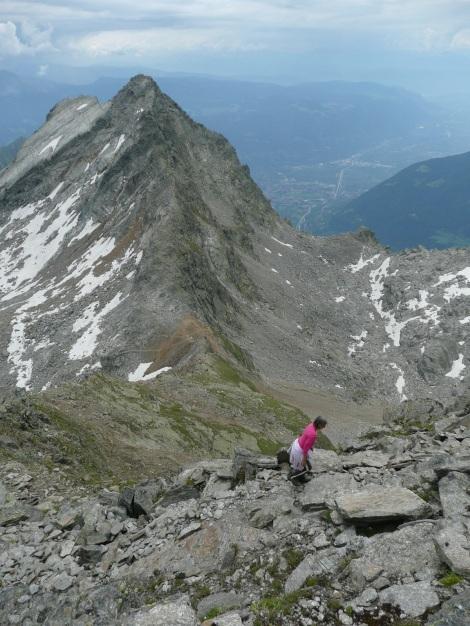 Foto: Manfred Karl / Wander Tour / Klettersteigdreitausender über dem Halsljoch / Blick zum Tschigat / 31.08.2009 16:13:47