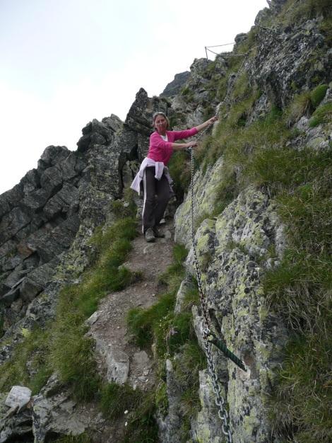 Foto: Manfred Karl / Wander Tour / Klettersteigdreitausender über dem Halsljoch / Der untere Teil ist gut gesichert / 31.08.2009 16:10:33
