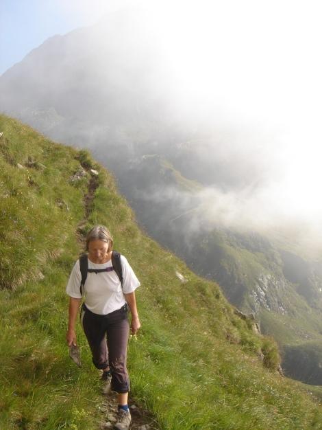 Foto: Manfred Karl / Wander Tour / Eindrucksvoller Dreitausender über dem Vinschgau / Luftiger Weg zur Königshofalm / 31.08.2009 16:29:59