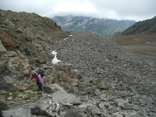 Foto: Manfred Karl / Wander Tour / Einsamer Dreitausender von der Lodnerhütte / Blockgewirr ohne Ende / 31.08.2009 16:03:02