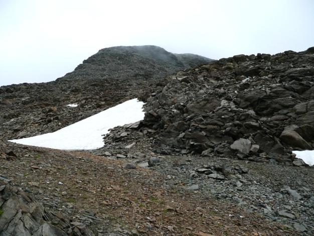 Foto: Manfred Karl / Wander Tour / Einsamer Dreitausender von der Lodnerhütte / Der Gipfelaufbau -am besten ganz links halten / 31.08.2009 16:00:27