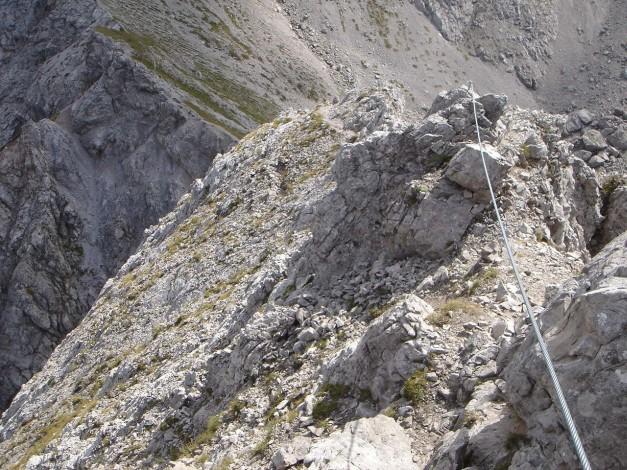 Foto: Manfred Karl / Klettersteig Tour / Kerschbaumer Törlspitz Südostgrat Klettersteig / Gipfelgrat / 31.08.2009 20:36:57