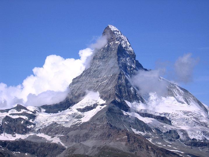 Foto: Andreas Koller / Wander Tour / Wanderdreitausender Oberrothorn (3415 m) / Matterhorn (4478 m) / 05.09.2009 00:23:34
