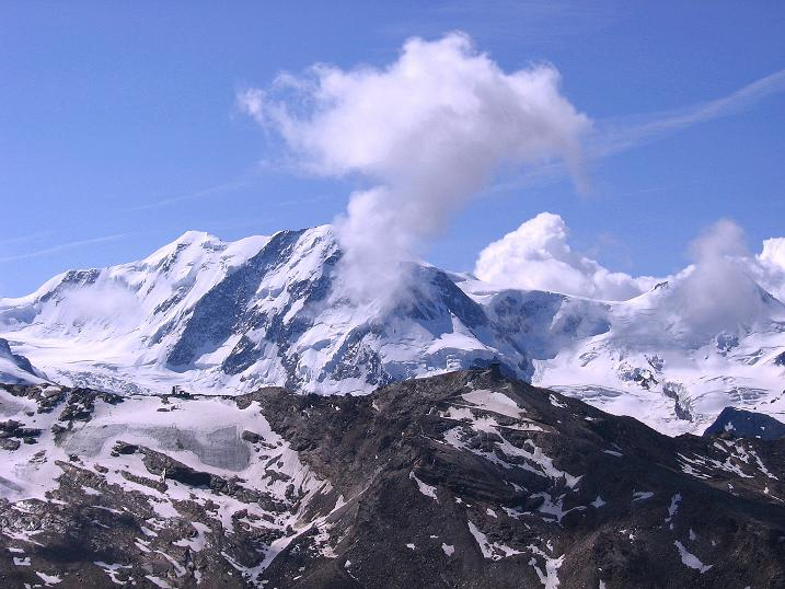 Foto: Andreas Koller / Wander Tour / Wanderdreitausender Oberrothorn (3415 m) / Liskamm (4527 m) / 05.09.2009 00:23:10