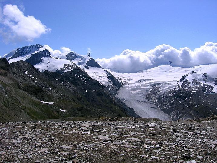 Foto: Andreas Koller / Wander Tour / Wanderdreitausender Oberrothorn (3415 m) / 05.09.2009 00:22:46