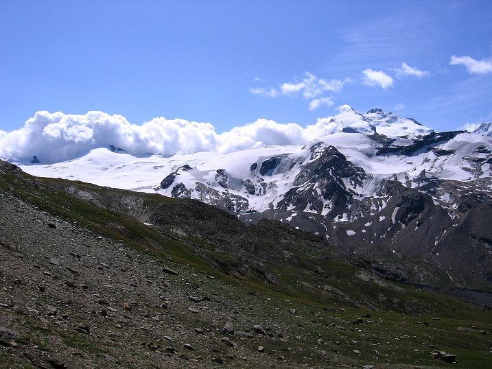 Foto: Andreas Koller / Wander Tour / Wanderdreitausender Oberrothorn (3415 m) / 05.09.2009 00:20:56