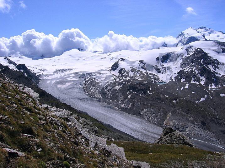 Foto: Andreas Koller / Wander Tour / Wanderdreitausender Oberrothorn (3415 m) / 05.09.2009 00:20:10