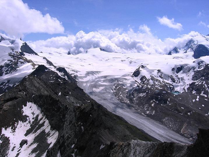 Foto: Andreas Koller / Wander Tour / Wanderdreitausender Oberrothorn (3415 m) / 05.09.2009 00:17:16