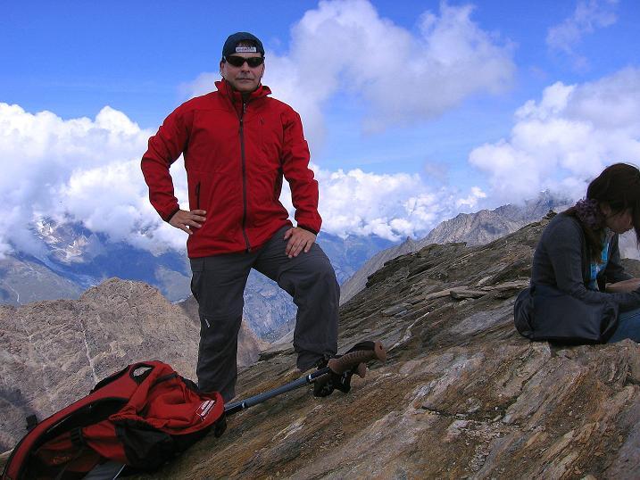 Foto: Andreas Koller / Wander Tour / Wanderdreitausender Oberrothorn (3415 m) / Am Oberrothorn / 05.09.2009 00:17:01