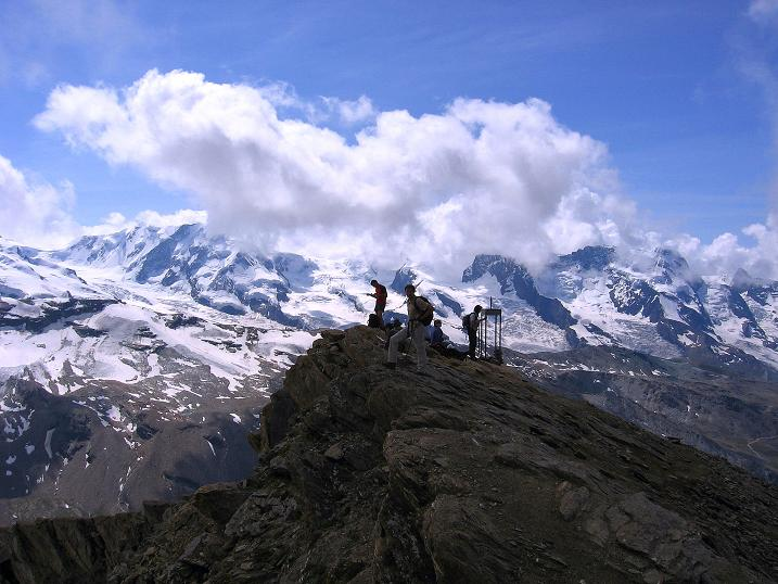 Foto: Andreas Koller / Wander Tour / Wanderdreitausender Oberrothorn (3415 m) / 05.09.2009 00:16:40