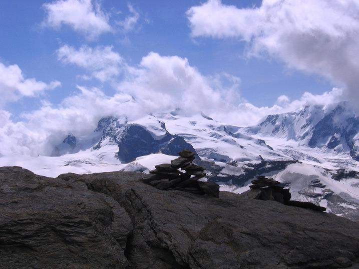 Foto: Andreas Koller / Wander Tour / Wanderdreitausender Oberrothorn (3415 m) / 05.09.2009 00:16:02
