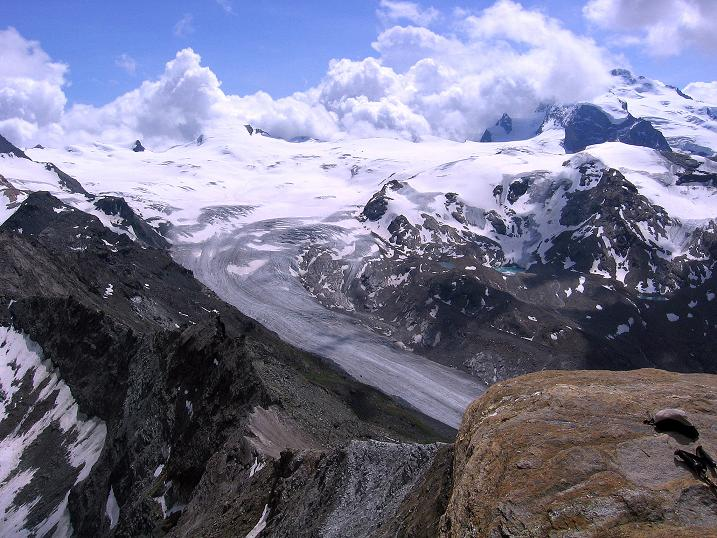Foto: Andreas Koller / Wander Tour / Wanderdreitausender Oberrothorn (3415 m) / 05.09.2009 00:15:40
