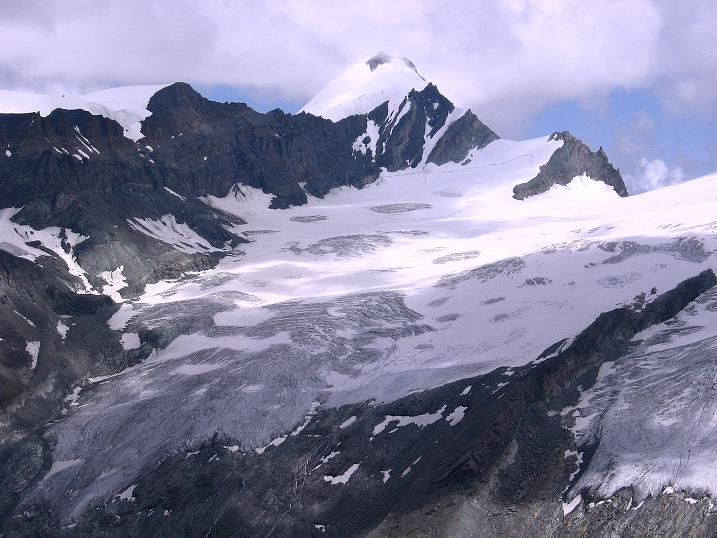 Foto: Andreas Koller / Wander Tour / Wanderdreitausender Oberrothorn (3415 m) / Allalinhorn (4027 m) / 05.09.2009 00:15:31