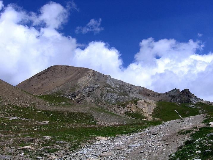 Foto: Andreas Koller / Wander Tour / Wanderdreitausender Oberrothorn (3415 m) / Rückblick auf das Oberrothorn / 05.09.2009 00:14:50
