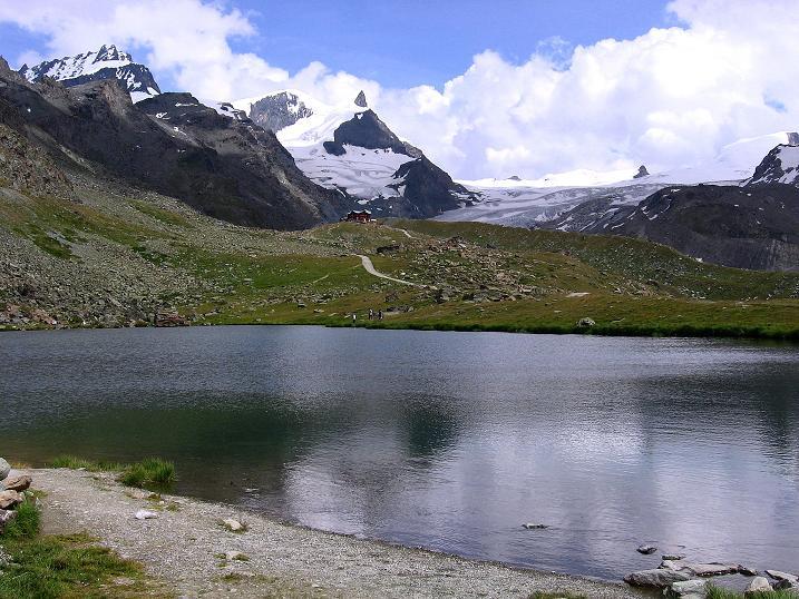 Foto: Andreas Koller / Wander Tour / Wanderdreitausender Oberrothorn (3415 m) / Am Stellisee / 05.09.2009 00:13:30
