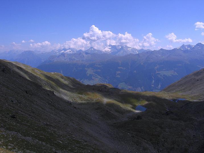 Foto: Andreas Koller / Wander Tour / Über den Augstbordgrat auf das Dreizehntenhorn (3052 m) / Blick Richtung Simplonpass / 07.09.2009 21:36:36