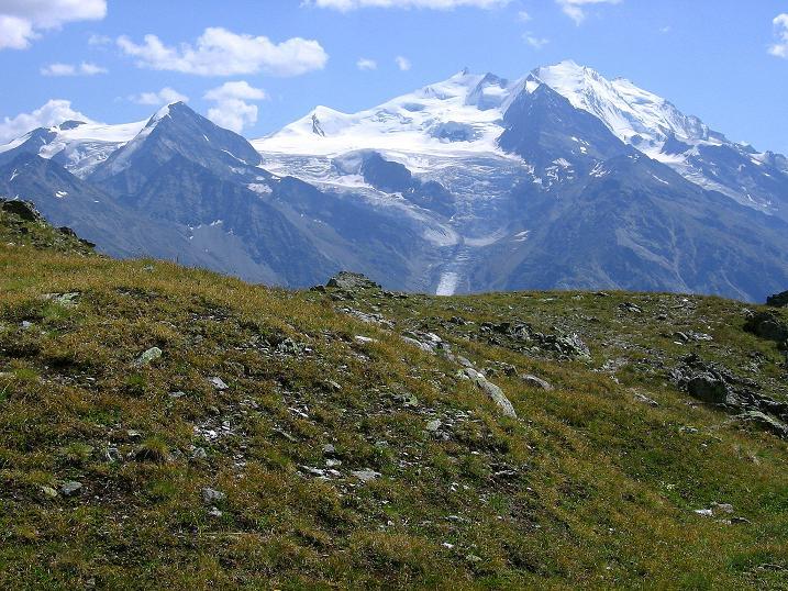 Foto: Andreas Koller / Wander Tour / Über den Augstbordgrat auf das Dreizehntenhorn (3052 m) / Mischabelkette (4545 m) / 07.09.2009 21:28:33