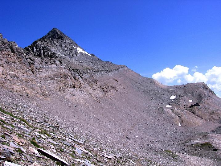Foto: Andreas Koller / Wander Tour / Vom Simplonpass auf das Wasenhorn (3246 m) / Wasenhorn mit Anstiegsgrat / 09.09.2009 23:53:48