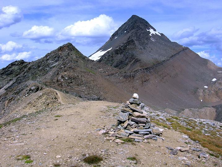 Foto: Andreas Koller / Wander Tour / Vom Simplonpass auf das Wasenhorn (3246 m) / Wasenhorn vom Mäderhorn / 09.09.2009 23:46:37