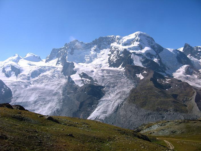 Foto: Andreas Koller / Wander Tour / Über den Hohtälligrat auf das Stockhorn (3532 m) / Breithorn (4165 m) / 13.09.2009 23:52:30