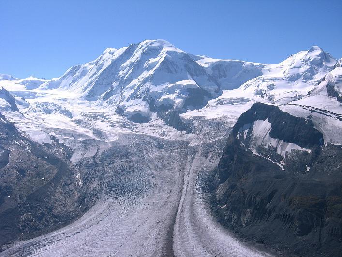 Foto: Andreas Koller / Wander Tour / Über den Hohtälligrat auf das Stockhorn (3532 m) / Liskamm (4527 m) / 13.09.2009 23:52:09