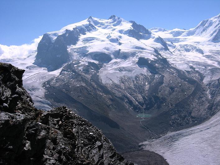 Foto: Andreas Koller / Wander Tour / Über den Hohtälligrat auf das Stockhorn (3532 m) / Monte Rosa (4634 m) / 13.09.2009 23:51:56