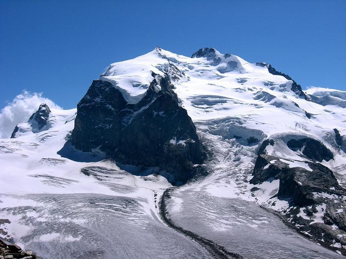 Foto: Andreas Koller / Wander Tour / Über den Hohtälligrat auf das Stockhorn (3532 m) / Monte Rosa (4634 m) / 13.09.2009 23:47:58
