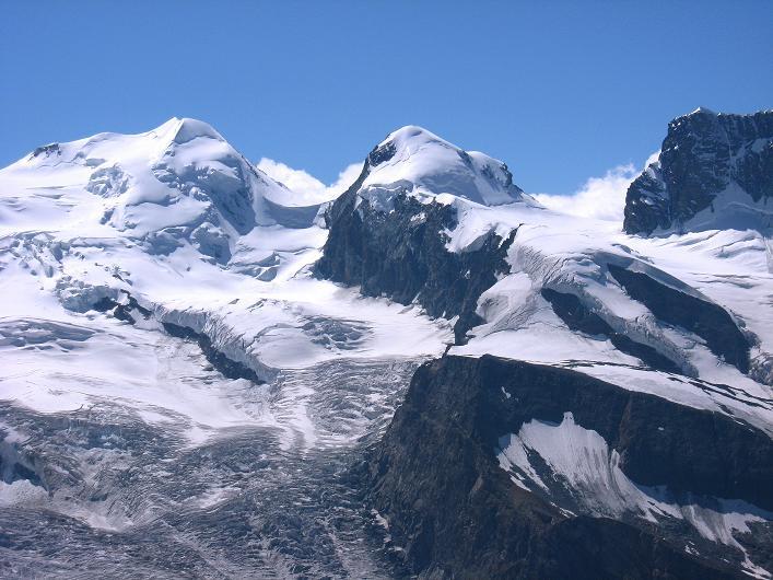 Foto: Andreas Koller / Wander Tour / Über den Hohtälligrat auf das Stockhorn (3532 m) / Castor (4228 m), Pollux (4092 m) und Schwarzfluh (4075 m) / 13.09.2009 23:47:40