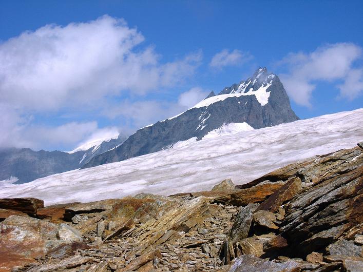 Foto: Andreas Koller / Wander Tour / Über den Hohtälligrat auf das Stockhorn (3532 m) / Rimpfischhorn (4199 m) / 13.09.2009 23:44:49