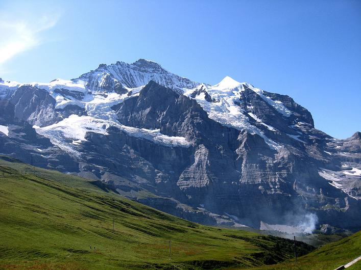 Foto: Andreas Koller / Klettersteig Tour / Klettersteig Rotstock (2663 m) / Jungfrau (4158 m) und Silberhorn (3698 m) / 05.09.2009 02:23:40