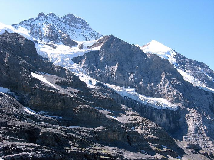 Foto: Andreas Koller / Klettersteig Tour / Klettersteig Rotstock (2663 m) / Jungfrau (4158 m) / 05.09.2009 02:22:58