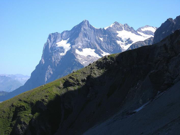 Foto: Andreas Koller / Klettersteig Tour / Klettersteig Rotstock (2663 m) / Wetterhorn (3701 m) / 05.09.2009 02:22:14