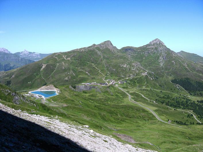 Foto: Andreas Koller / Klettersteig Tour / Klettersteig Rotstock (2663 m) / Blick zur Kleinen Scheidegg und zum Lauberhorn  / 05.09.2009 02:21:51
