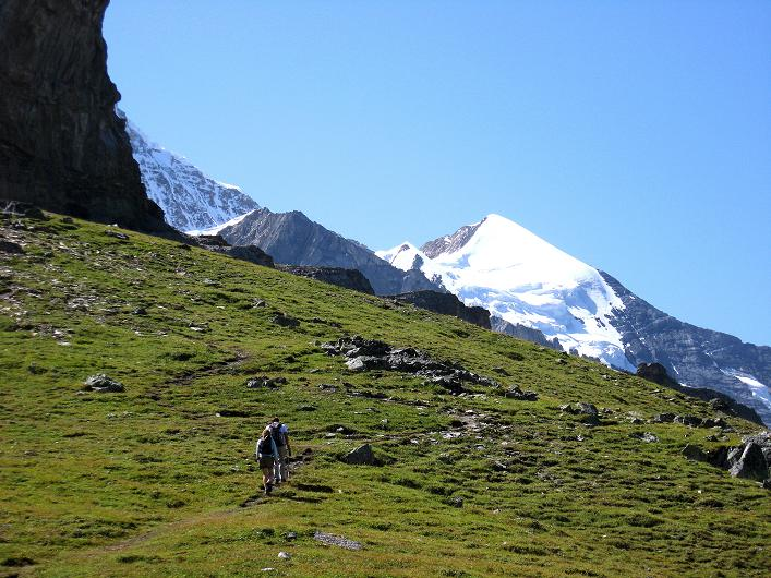 Foto: Andreas Koller / Klettersteig Tour / Klettersteig Rotstock (2663 m) / Silberhorn (3698 m) vom Anstiegsweg / 05.09.2009 02:21:01