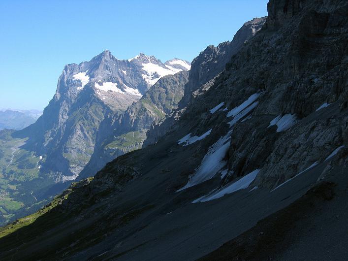 Foto: Andreas Koller / Klettersteig Tour / Klettersteig Rotstock (2663 m) / Wetterhorn (3701 m) / 05.09.2009 02:19:52