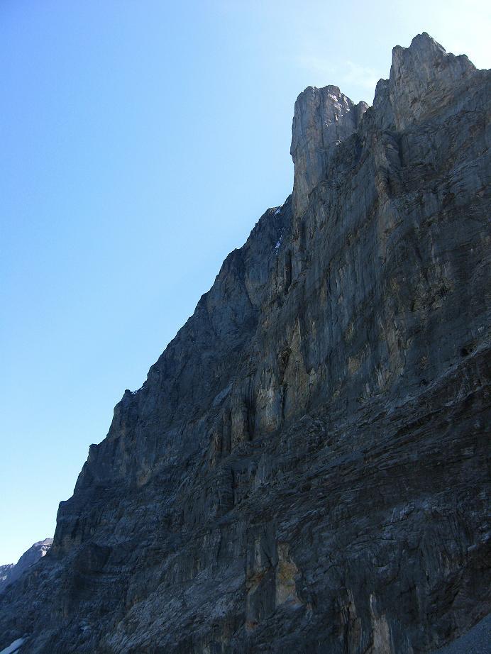 Foto: Andreas Koller / Klettersteig Tour / Klettersteig Rotstock (2663 m) / Ein Teil der Eiger Nordwand / 05.09.2009 02:19:37