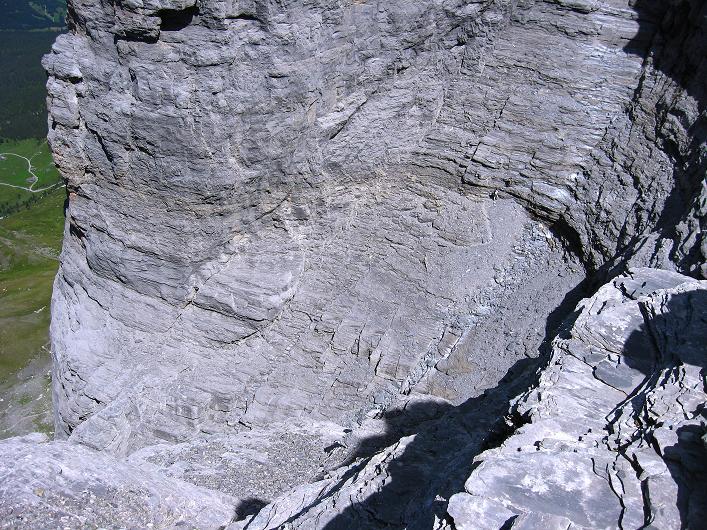 Foto: Andreas Koller / Klettersteig Tour / Klettersteig Rotstock (2663 m) / Wie ein Amphitheater: der Kessel zwischen Rotstock und Eiger / 05.09.2009 02:15:22