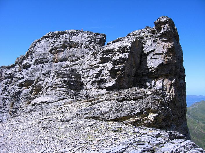 Foto: Andreas Koller / Klettersteig Tour / Klettersteig Rotstock (2663 m) / Gipfelaufbau Rotstock / 05.09.2009 02:14:13