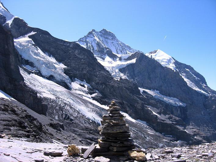 Foto: Andreas Koller / Klettersteig Tour / Klettersteig Rotstock (2663 m) / Am Rotstock-Sattel / 05.09.2009 02:13:55