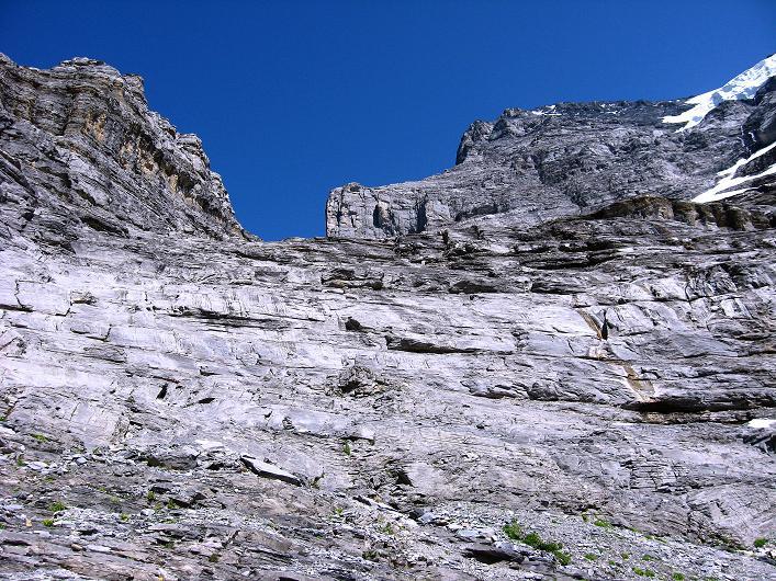 Foto: Andreas Koller / Klettersteig Tour / Klettersteig Rotstock (2663 m) / Abstieg über steile Gletscherschliff-Platten / 05.09.2009 02:08:36