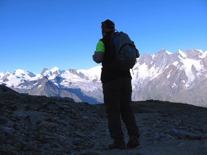 Foto: Andreas Koller / Wander Tour / Lagginhorn (4010 m) / 12.09.2009 15:48:43