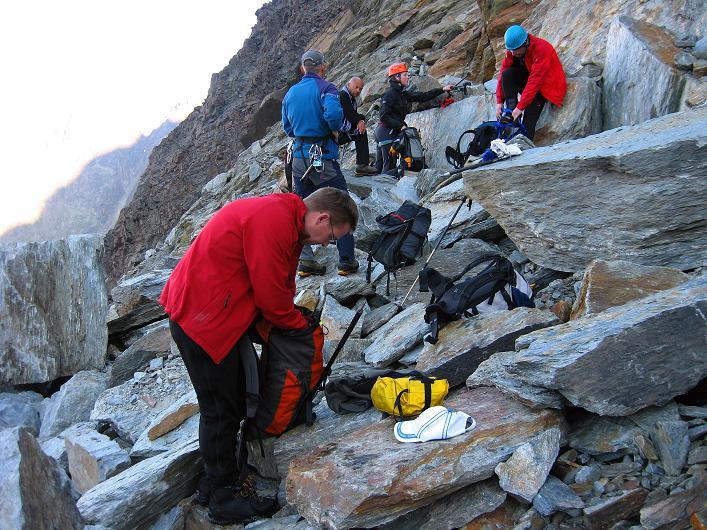 Foto: Andreas Koller / Wander Tour / Lagginhorn (4010 m) / 12.09.2009 15:47:16