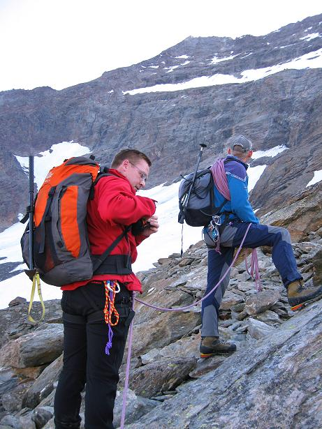 Foto: Andreas Koller / Wander Tour / Lagginhorn (4010 m) / 12.09.2009 15:46:53