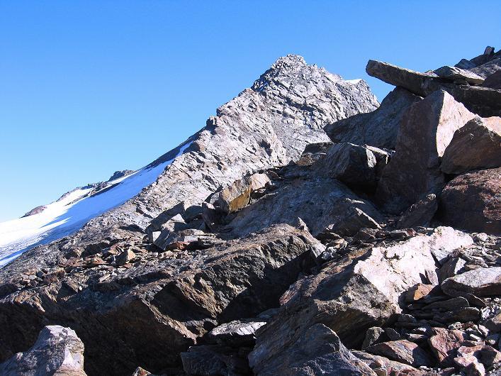 Foto: Andreas Koller / Wander Tour / Lagginhorn (4010 m) / Fletschhorn (3996 m) / 12.09.2009 15:45:54